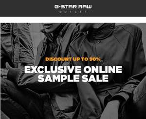 Sample sale tot -90% @ G-Star Outlet