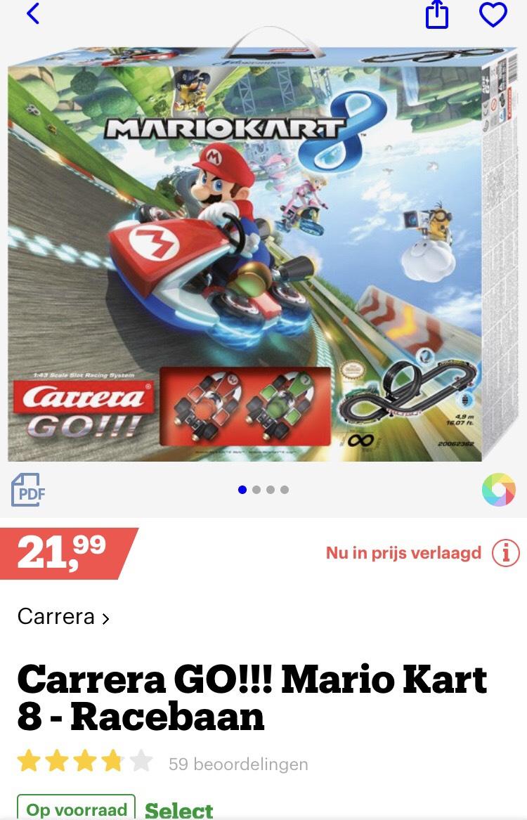 Carrera GO!!! Nintendo Mario Kart 8 racebaanset €21,99