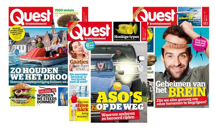 12 nummers Quest € 34,99 @ Groupon
