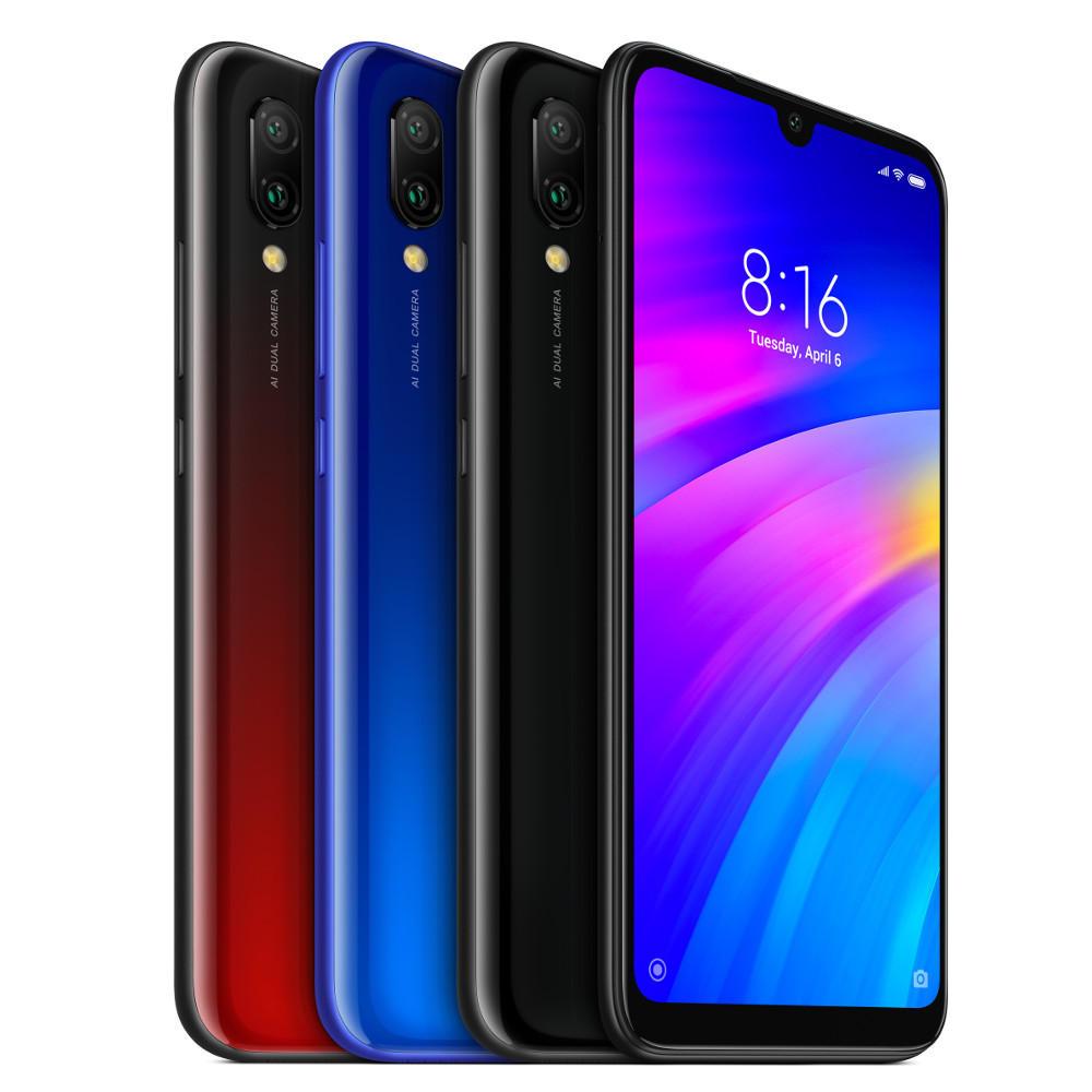 Xiaomi redmi 7 Global Version 6.26 inch Dual achteruitrijcamera 3GB RAM 64 GB ROM Snapdragon 632 Octa kern 4G Smartphone - Zwart