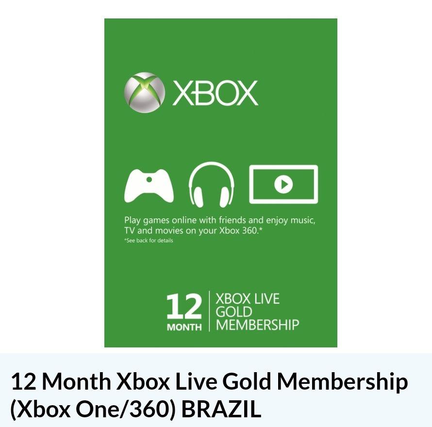 Xbox Live Gold 12 maanden (VPN)