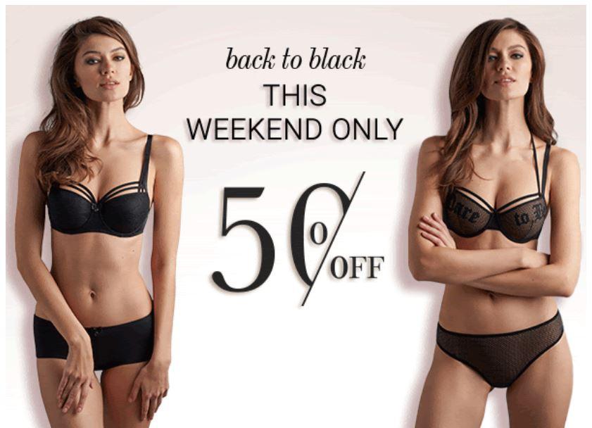 Diverse zwarte lingerie/badmode -50% @ Marlies Dekkers