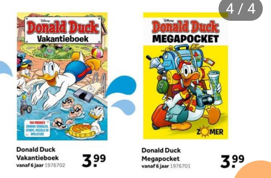 Donald Duck vakantieboek voor €3,99 bij Intertoys