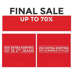 Tot 70% korting + 2e Jeans -30% EXTRA + Summer Items -25% EXTRA korting @ Score