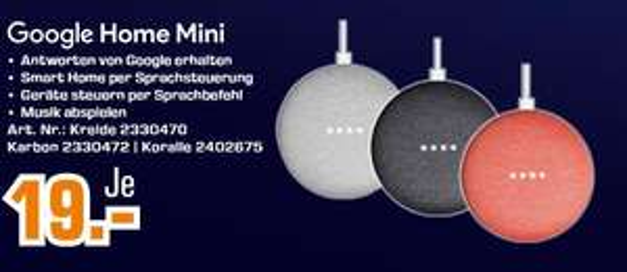 Google home mini deal bij onze oosterburen
