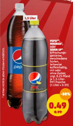 Pepsi, Mirinda of 7UP (vershillende soorten) bij de Penny in Duitsland