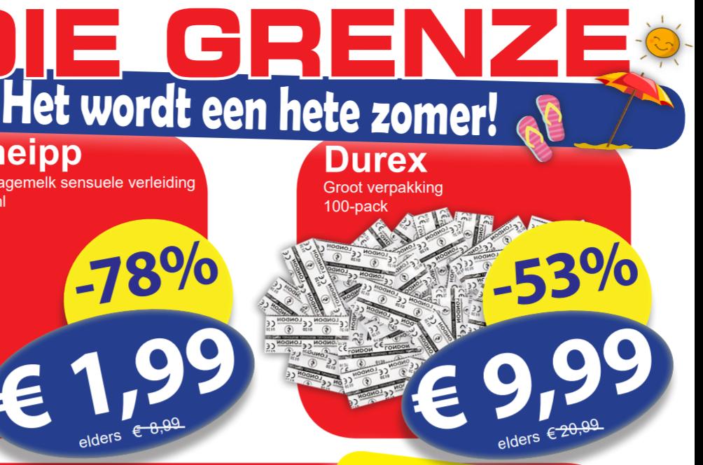 100 Durex condooms voor €9,99 @ Die Grenze