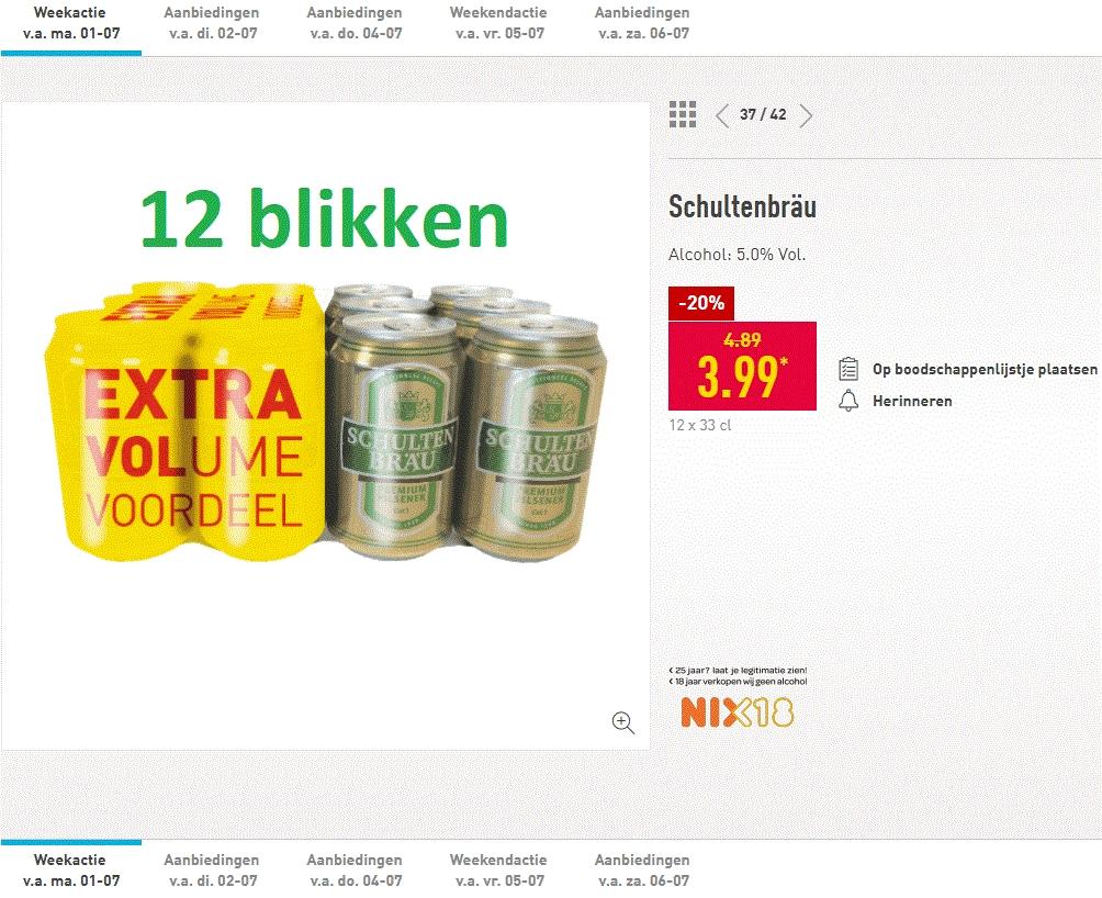 Schultenbräu 12x HALVE LITER blikken €3,99!
