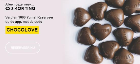 Reserveer via TheFork app voor €20 korting op volgende reservering