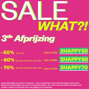 Happy Days SALE: 50-70% EXTRA korting @ Maison Lab