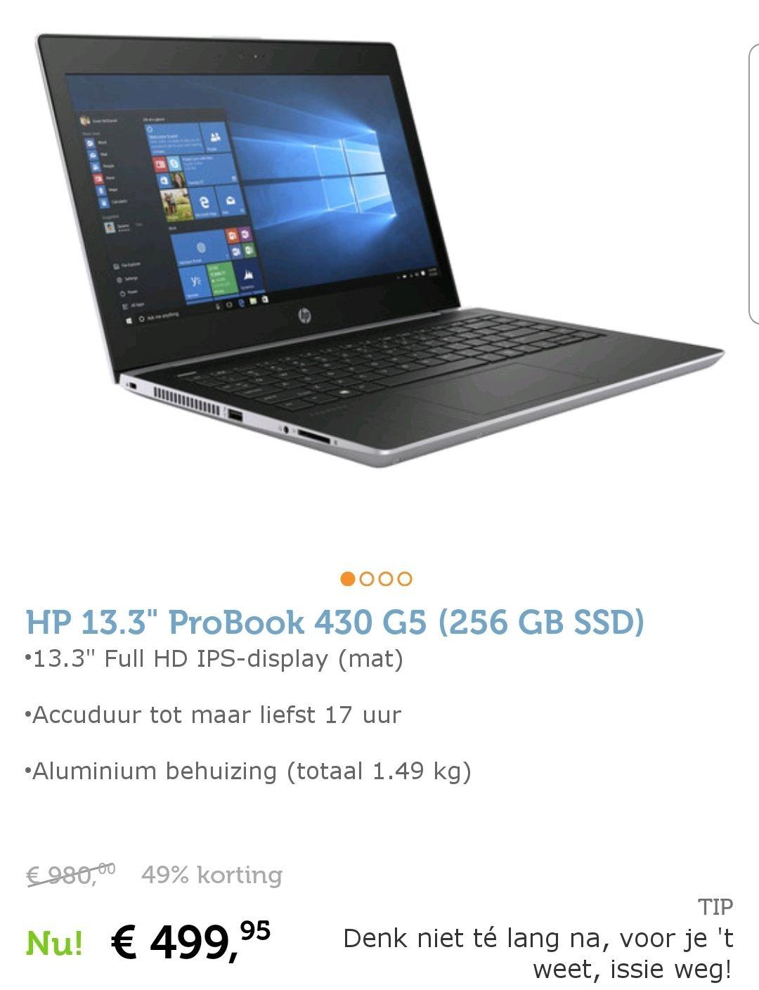 "HP 13.3"" ProBook 430 G5 (256 GB SSD)"