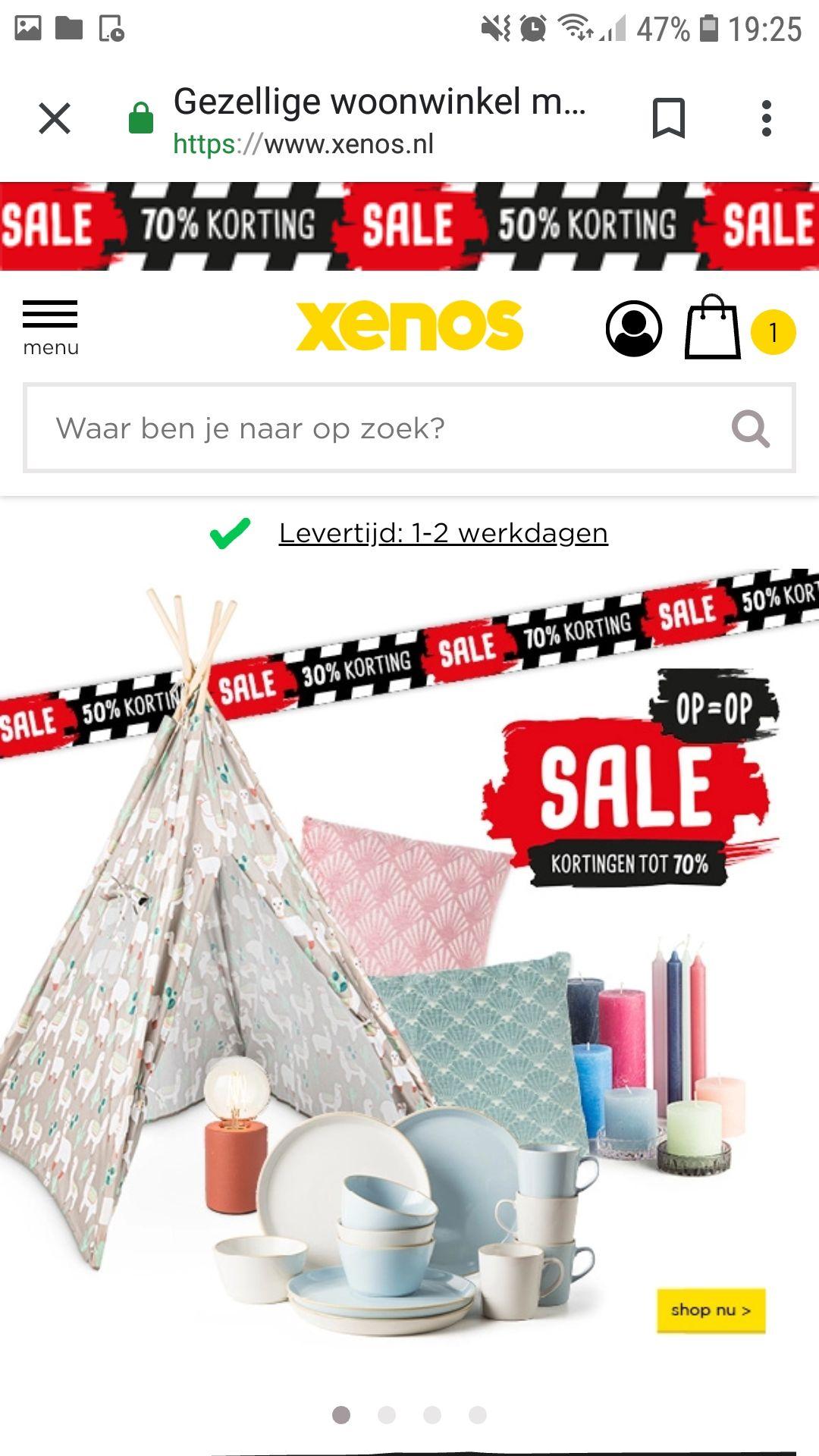 Sale bij Xenos 30%,50% en 70%