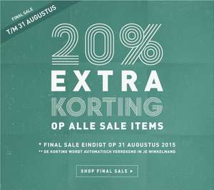 Tot 60% korting + 20% EXTRA op alle SALE @ Perfectly Basics