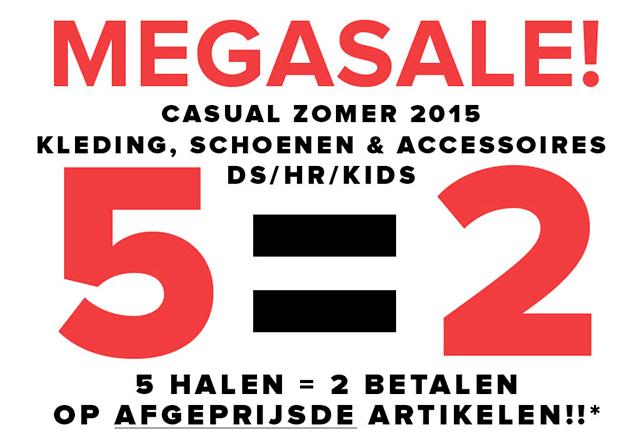 Megasale: 5 halen = 2 betalen op topmerken SALE - dames - heren - kids @ Topshelf