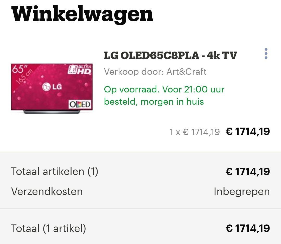 LG C8 OLED 65inch TV -OLED65C8PLA