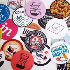 10 coasters / onderzetters @stickermule