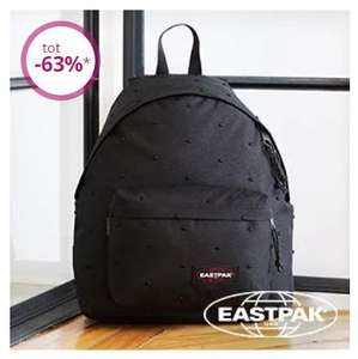Eastpak sale -50% tot -63% + evt €10 extra korting (va €40) @ Limango
