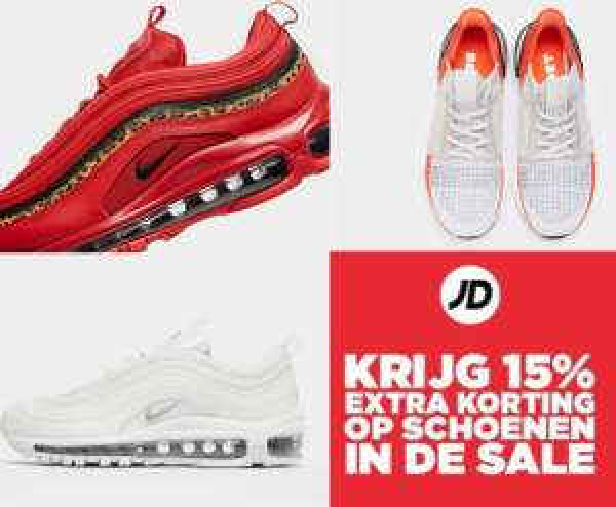 Met code 15% extra korting op sale schoenen (va €100) @ JD Sports