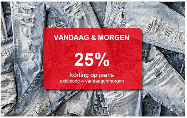 25% (EXTRA) korting op jeans, ook op de SALE - dames + heren @ Sans Online