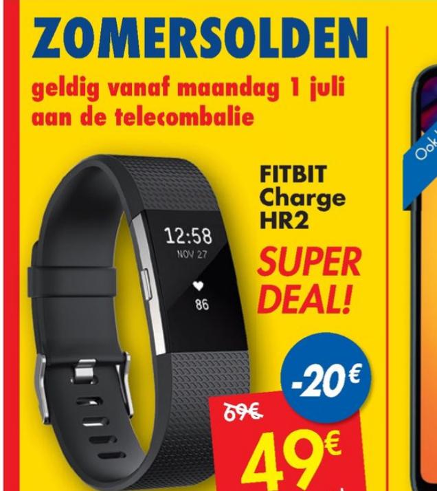 [Grensdeal België] Fitbit charge HR2 voor €49