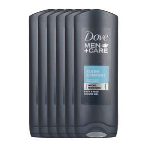 Dove Men+Care Clean Comfort douchegel - 6x250 ml (€4,47 / L)