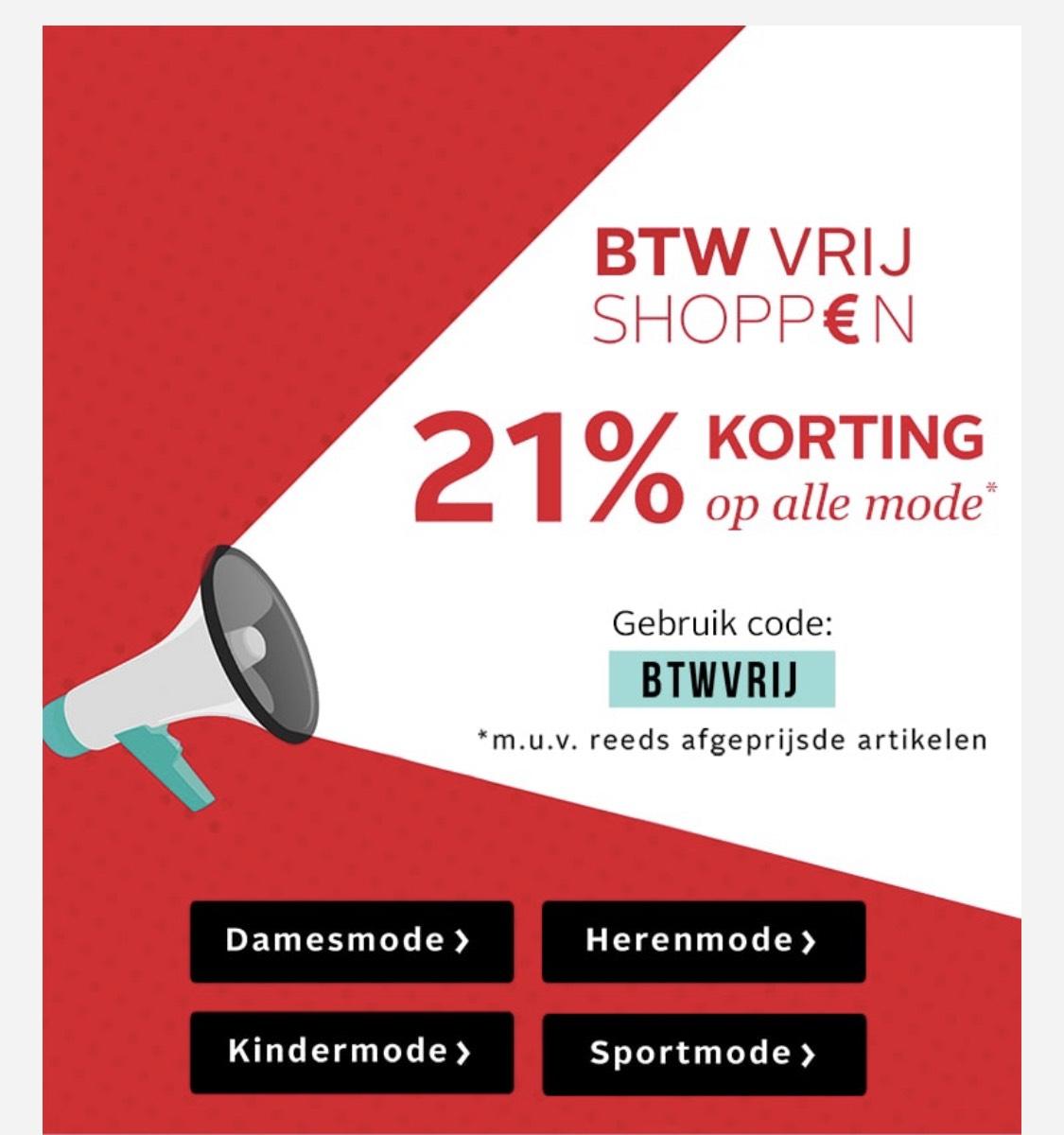 21% korting op alle mode bij OTTO