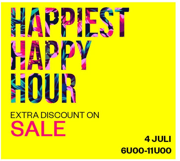 Happy Hours: Do 6-11 u: 50-70% EXTRA korting op sale @ Maison Lab