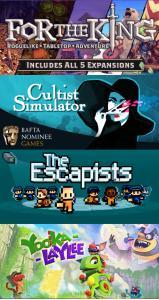 Maandelijkse gratis games @ Twitch Prime: For The King, The Escapists, Cultist Simulator, Yooka-Laylee