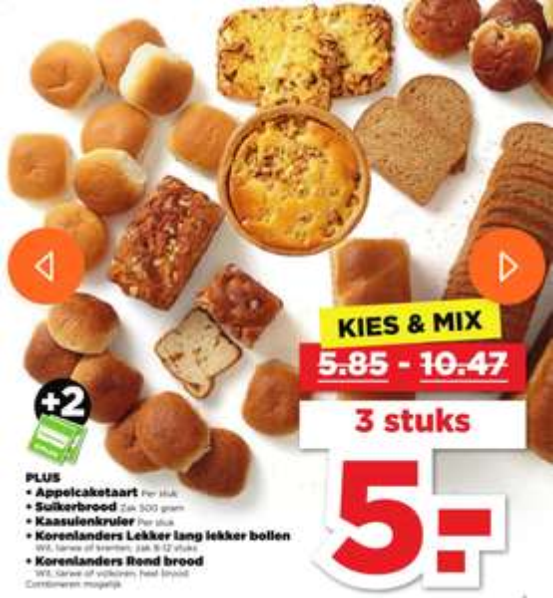 3 appelcaketaartjes voor €5 bij Plus (ipv €10,47)
