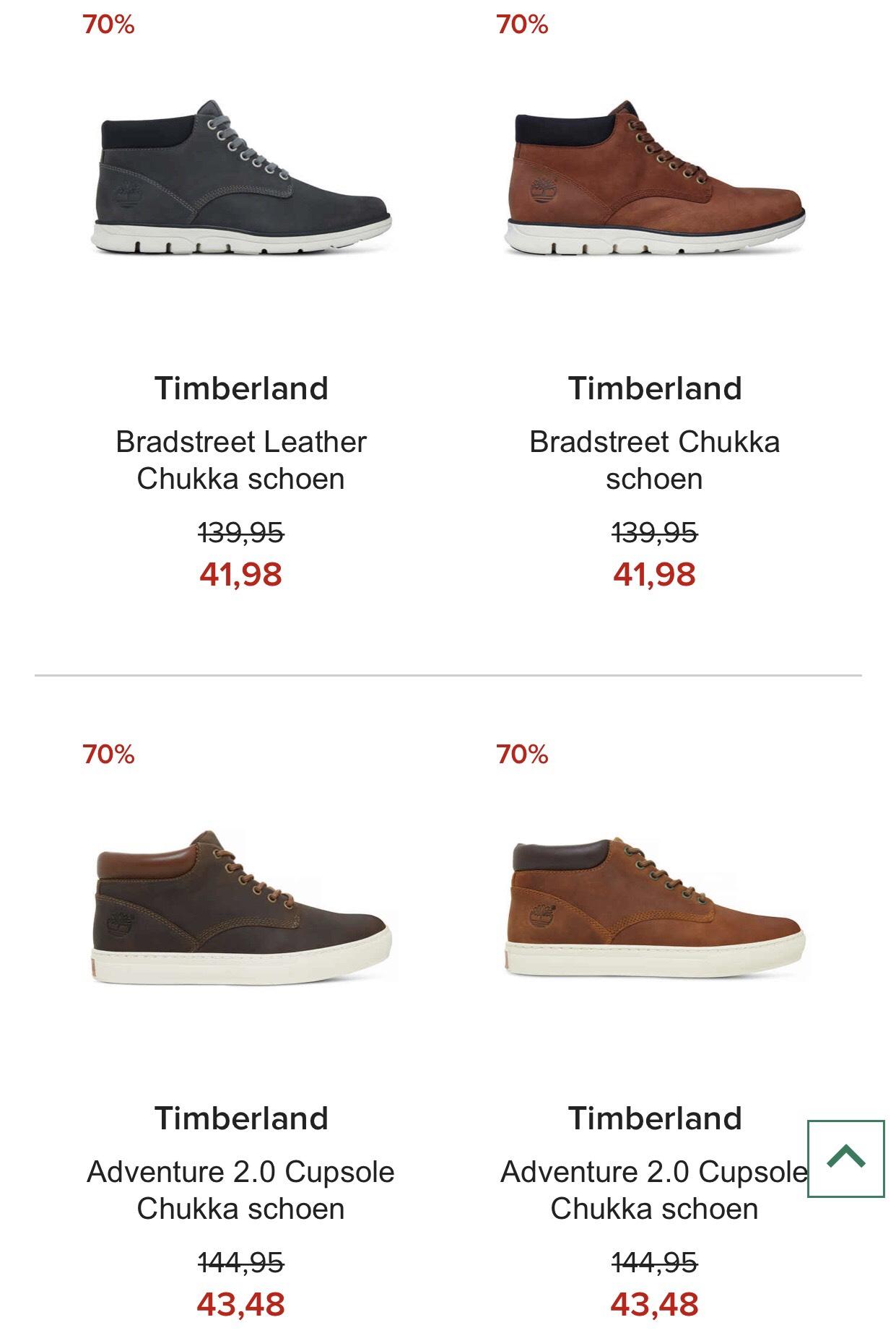 SALE -70% op deze Timberland sneakers (enkele maten) @ Hudson's Bay