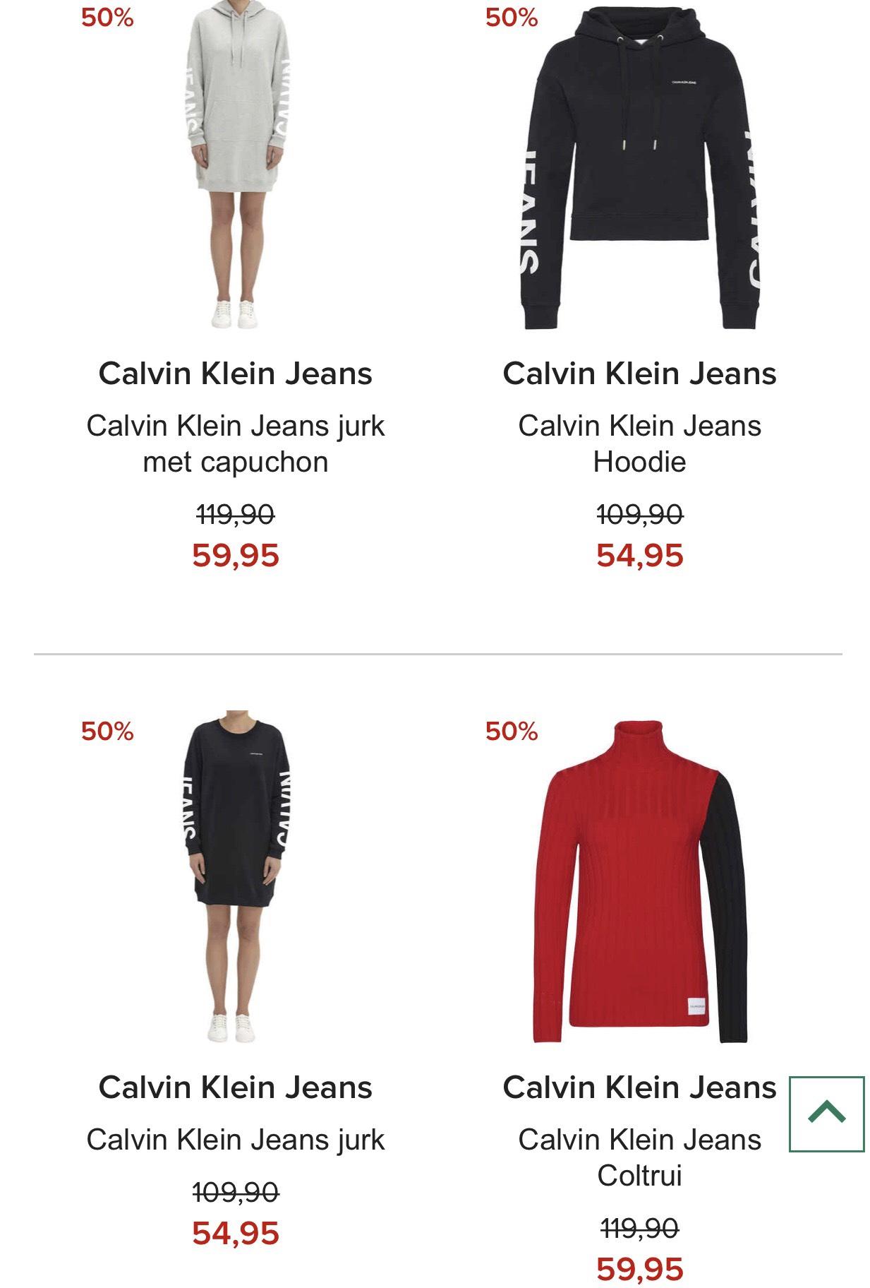 SALE tot -50% korting dames- herenkleding Calvin Klein Jeans @ Hudson's Bay