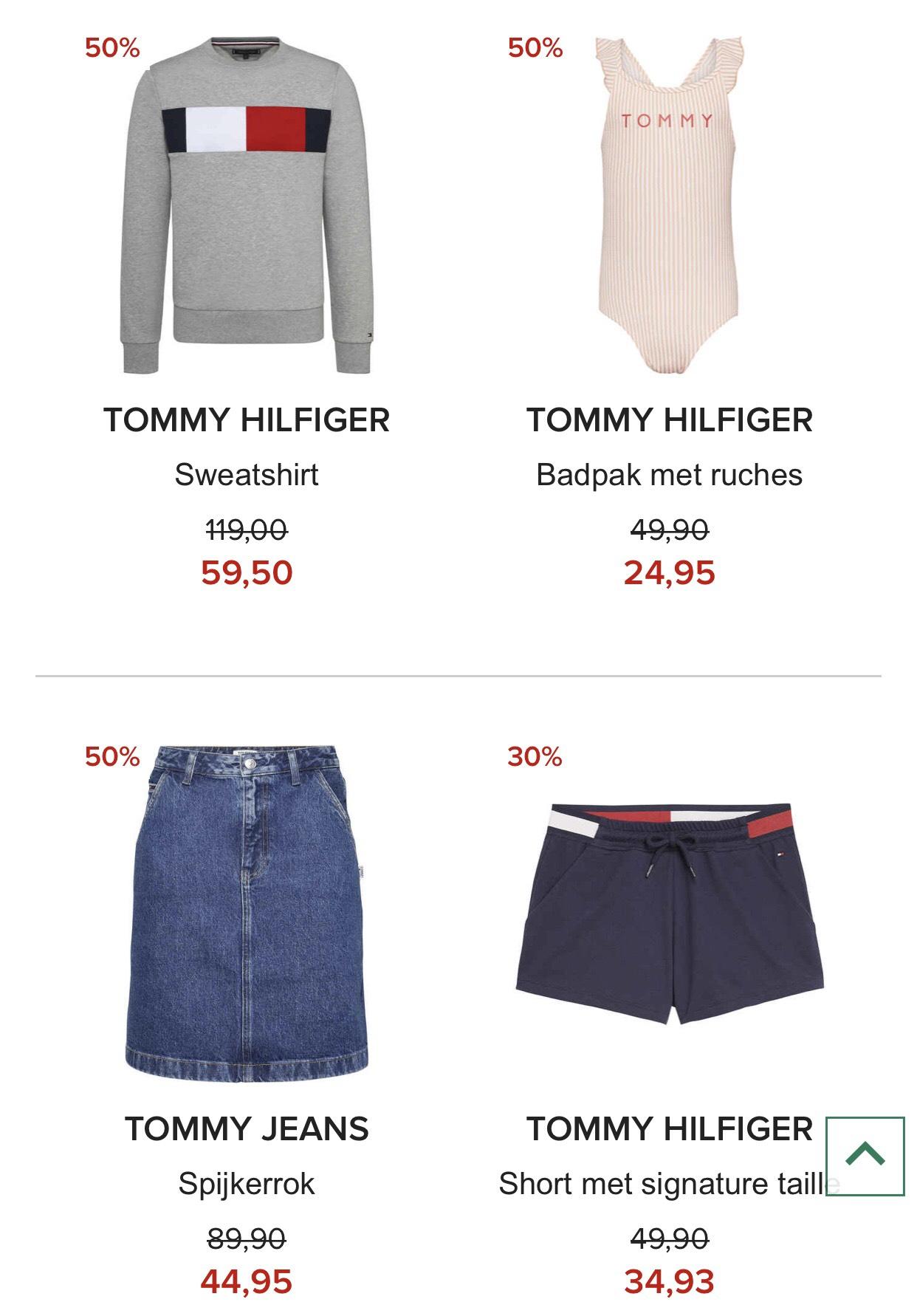 SALE tot -50% korting TOMMY HILFIGER/TOMMY JEANS dames/heren/kids @ Hudson's Bay