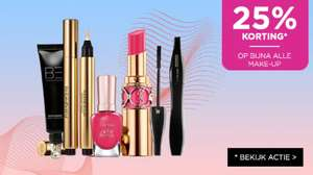 25% korting op bijna alle make-up