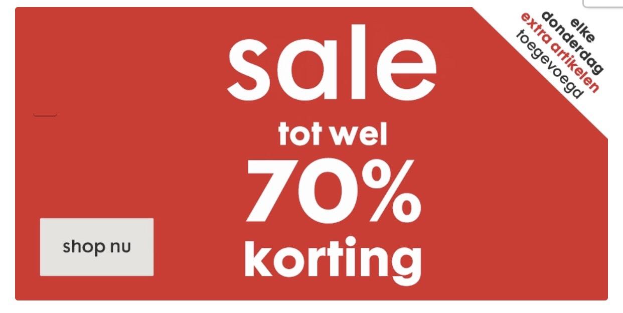 SALE nu tot -70% korting + -20% extra korting met code @ HEMA