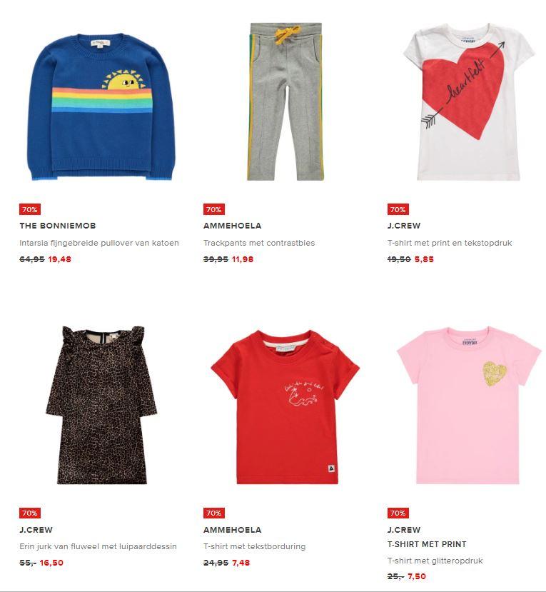 Diverse merken kinderkleding -70% (85+ artikelen) @ De Bijenkorf