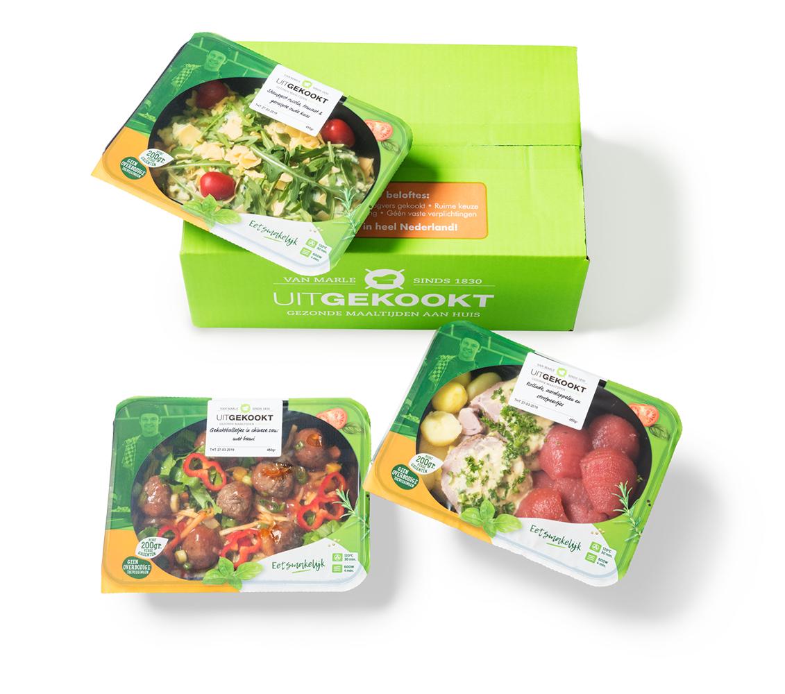 Maaltijdbox Proefpakket - 3 gerechten @ Uitgekookt