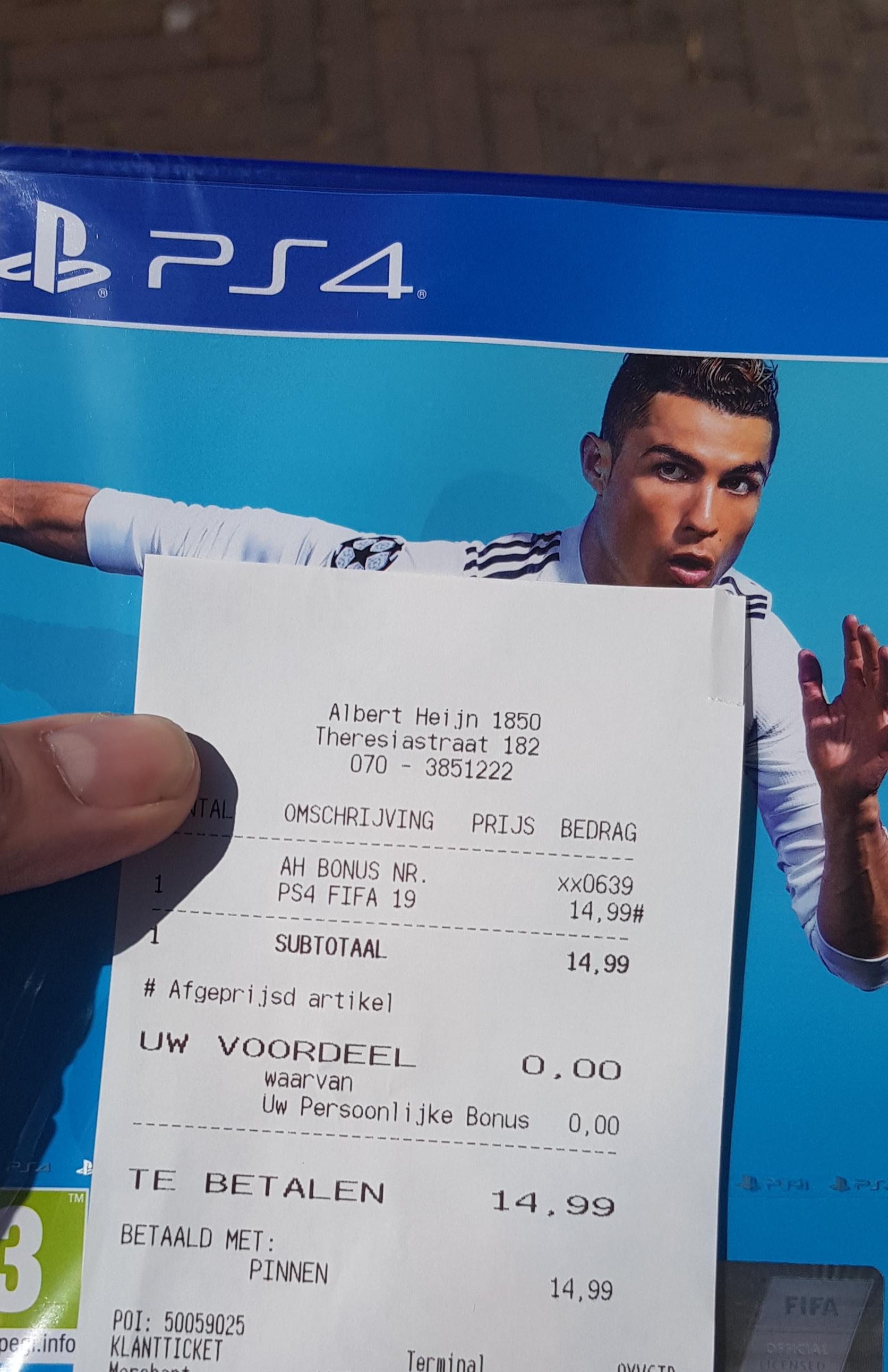 (Lokaal) PS4 FIFA 2019
