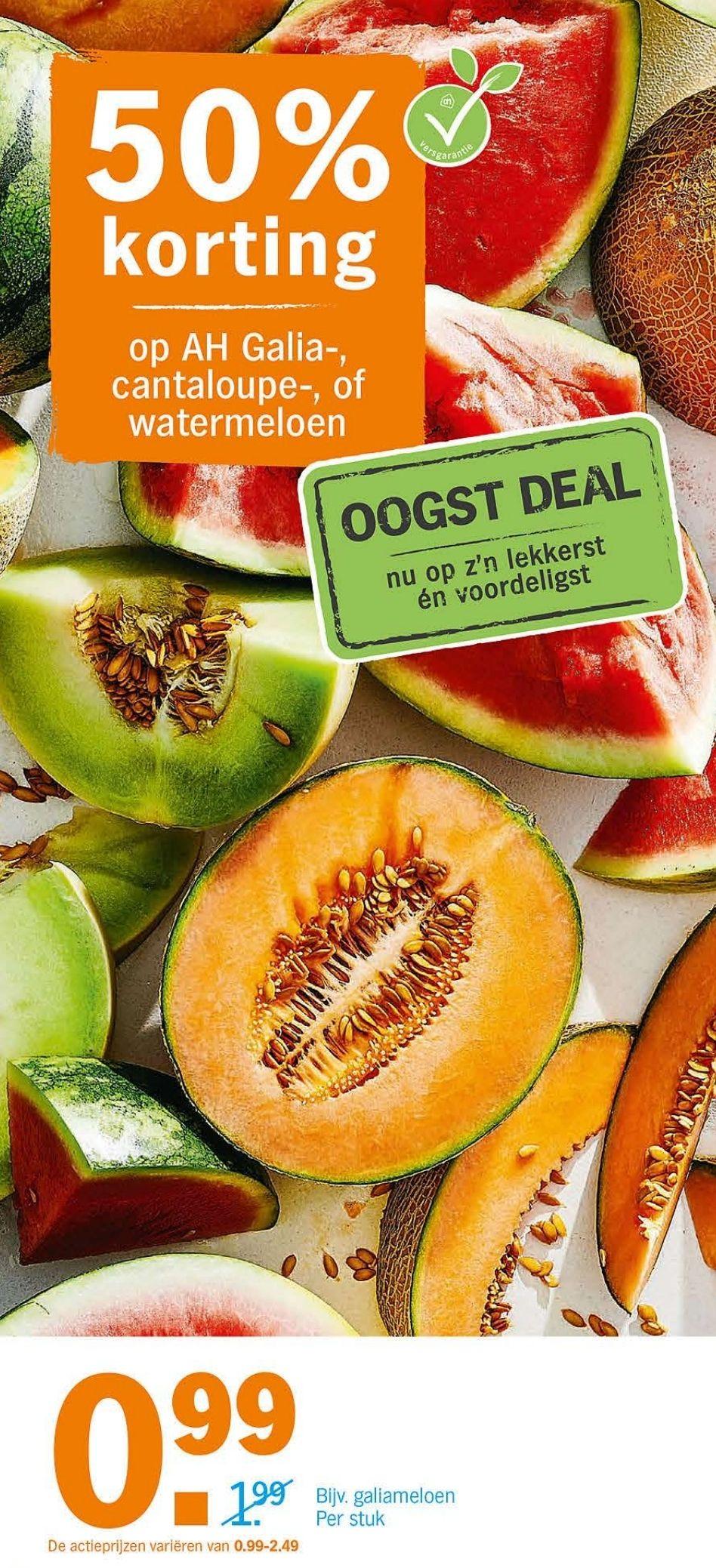 Meloenen voor 50% korting