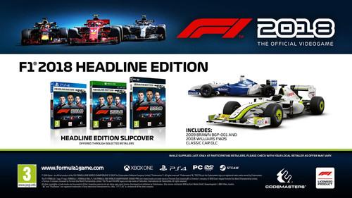 [Coolblue] F1 2018 Headline Edition voor XBOX One voor €19,99 [60% korting]