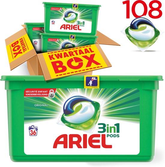 Ariel 3 in 1 pods 108 wasbeurten