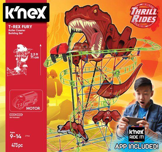 K'nex Thrill Rides Dino T-Rex Fury Achtbaan (elders €44,95)