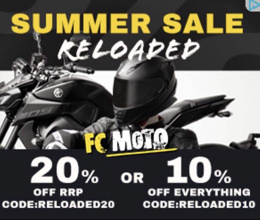 10% en 20% korting op FC-moto.de