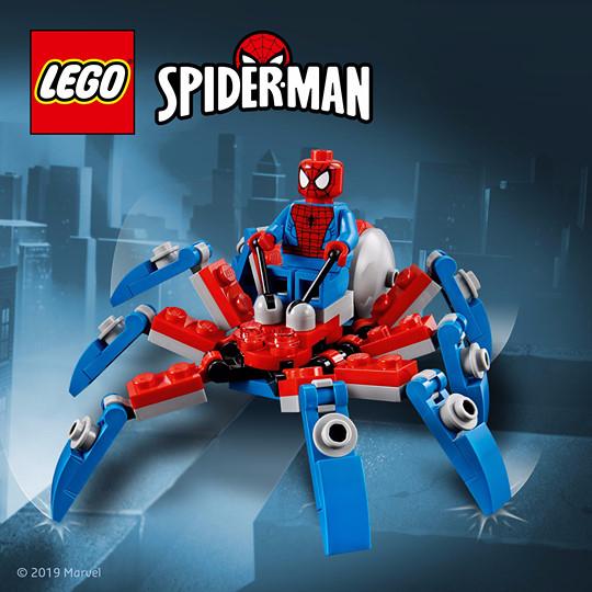 Gratis LEGO mini-spidercrawler bij elke Marvel-aankoop vanaf € 35.*