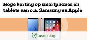 Korting op o.a.Apple en Samsung tablets en phones dagdeal tot 35%