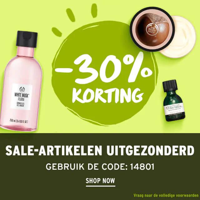 Met code 30% korting @ The Body Shop