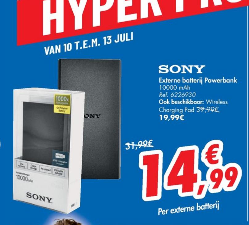 [Grensdeal België] 200 wasbeurten Colorreus voor €11,99 & Sony 10.000 mah powerbank voor €14,99