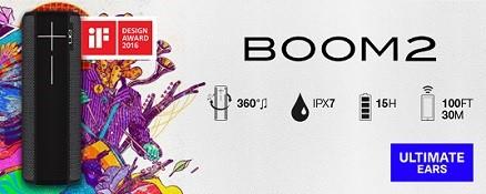 Ultimate Ears BOOM 2 - Panther voor 79,- bij bol.com