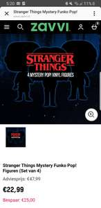 4 Stranger Things Funko Pops voor €22.95 (Mystery)