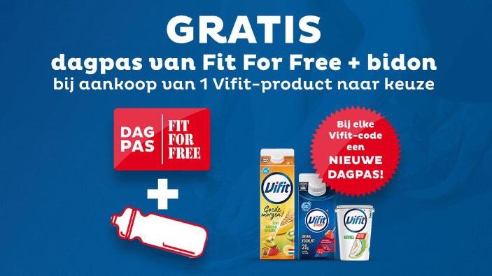 Onbeperkt gratis Fit For Free dagpas + gratis bidon bij aankoop van een Vivit zuivel