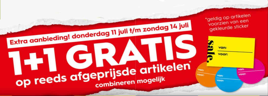 Do 11 t/m zo 14 juli: SALE 1+1 GRATIS (instore) @ Blokker